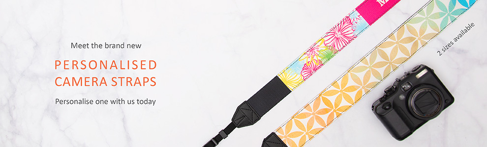 Personalised Camera Straps