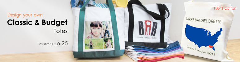 Personalised Canvas Tote Bags