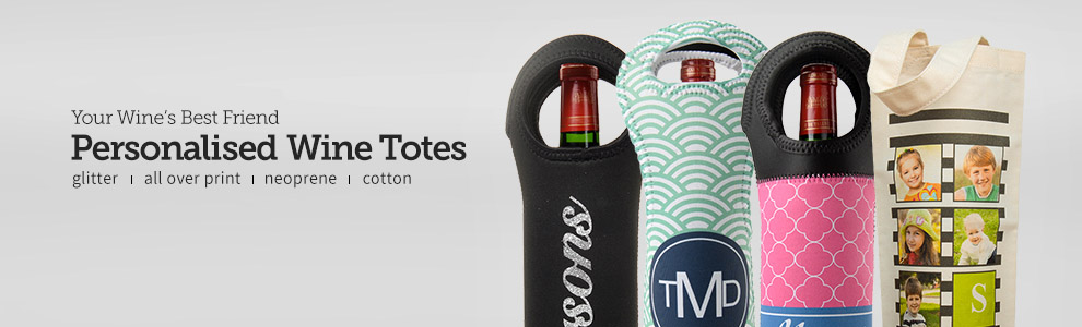 Personalised Wine Totes