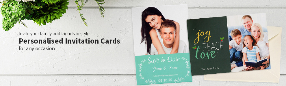Personalised Stationery Photo Invitation Cards
