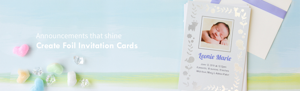Personalised Real Foil Cards