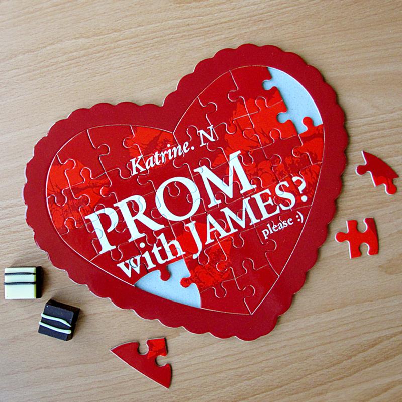 Wedding invitations,Personalised Wedding Jigsaw Puzzle Invitations,Heart shape