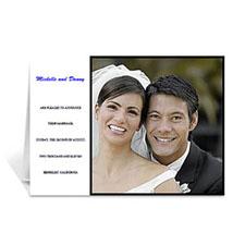 Personalised Classic White Wedding Photo Cards, 5