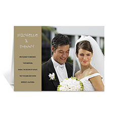 Personalised Timeless Gold Wedding Photo Cards, 5