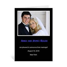 Personalised Classic Black Wedding Photo Cards, 5