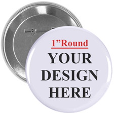 Full Colour Imprint Custom Button Pin, 1