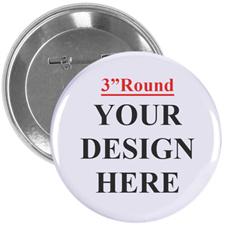 Full Colour Imprint Custom Button Pin, 3