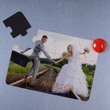 Personalised Magnetic Just Married Invitation Puzzle