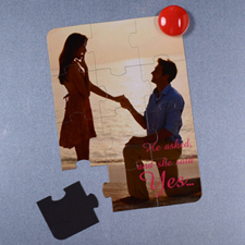 Personalised Magnetic He Asked And She Said Yes Invitation Puzzle