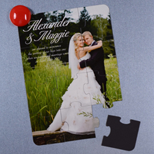 Personalised Magnetic Wedding Photo Announcement Invitation Puzzle