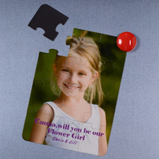 Personalised Magnetic Will You Be My Flower Girl Invitation Puzzle