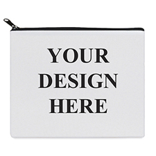 Print Your Own 2 Side Same Image Black Zipper Bag 8