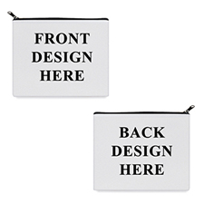 Print Your Own 2 Side Different Images Black Zipper Bag 8