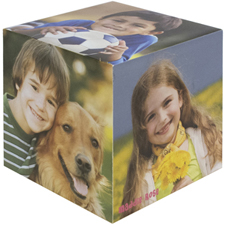 Personalised Wood Photo Cube, 5 Panels