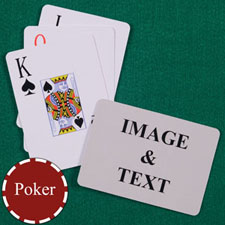 Personalised Poker Jumbo Index Landscape Playing Cards