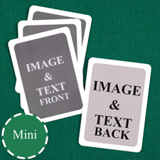 Mini Size Playing Cards Custom Cards (Blank Cards) White Border