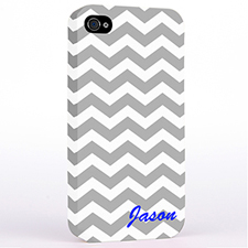 Personalised Grey Chevron Monogrammedmed Hard Case Cover