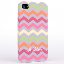 Personalised Colourful Colours Chevron iPhone 4 Hard Case Cover