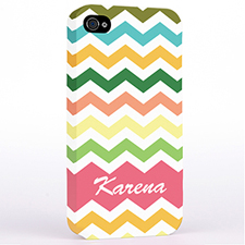 Personalised Colourful Chevron Hard Case Cover
