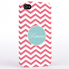 Personalised Carol Chevron iPhone 4 Hard Case Cover