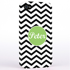 Personalised Black Chevron iPhone 4 Hard Case Cover