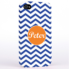 Personalised Navy Chevron iPhone 4 Hard Case Cover
