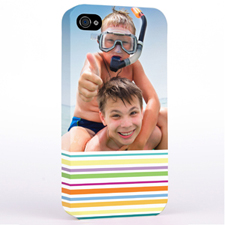 Personalised Colourful Stripe Photo Hard Case Cover