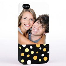 Personalised Glamorous Polka Dots Photo iPhone 4 Hard Case Cover
