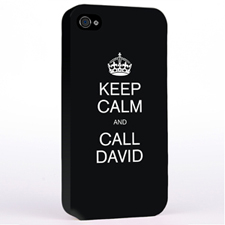 Personalised Black Keep Calm Hard Case Cover