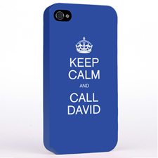 Personalised Blue Keep Calm Hard Case Cover