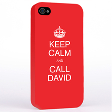 Personalised Red Keep Calm Hard Case Cover
