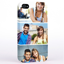 Personalised Simply Three Collage iPhone 4 Hard Case Cover