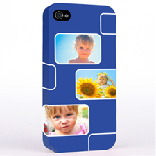 Personalised Navy 3 Collage iPhone 4 Hard Case Cover
