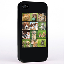 Personalised Simply Black 12 Collage Instagram iPhone 4 Hard Case Cover