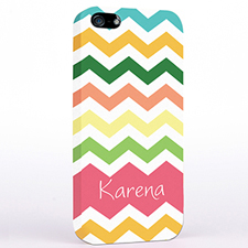 Personalised Colourful Stripes Chevron iPhone Case
