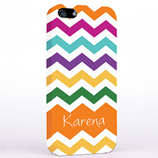 Personalised Orange Chevron iPhone Case