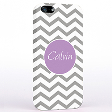 Personalised Silver Grey Chevron iPhone Case