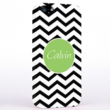 Personalised Black Chevron iPhone Case