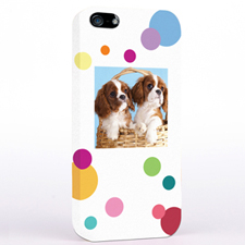 Personalised Colourful Polka Dots Photo iPhone 5 iPhone Case
