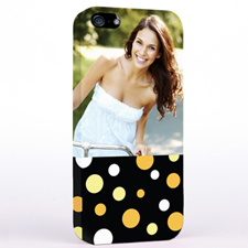 Personalised Glamorous Polka Dots Photo iPhone 5 iPhone Case