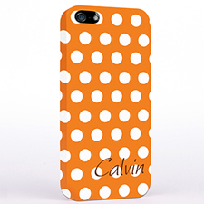 Personalised Orange Polka Dots iPhone Case