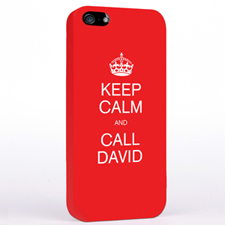 Personalised Red Keep Calm iPhone Case