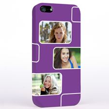 Personalised Purple 3 Collage iPhone 5 Case