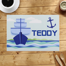 Personalised Sailing Anchor Placemats