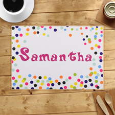 Personalised Colourful Confetti Dots Placemats