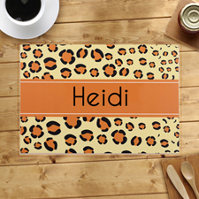 Personalised Leopard Print Placemats