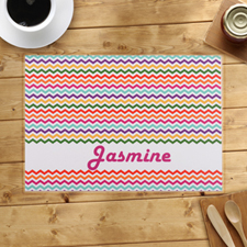 Personalised Chevron Zigzag Placemats