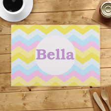 Personalised Huge Colourful Chevron Placemats