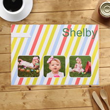 Personalised Colourful Stripes Placemats