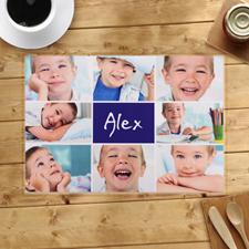 Personalised Navy Eight Collage Placemats